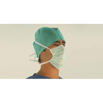 Máscara Cirúrgica- Não Esterilizada 3 Camadas de Não Tecido com Atilhos (caixas de 50 unidades)