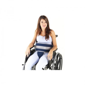 Cinto abdominal pélvico para cadeira com fecho em clip