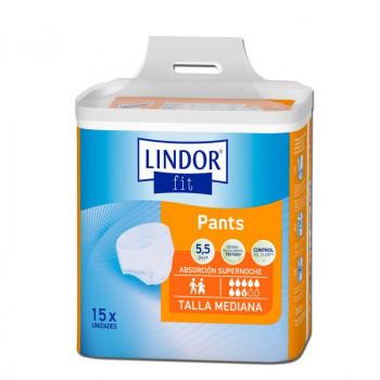 Lindor Pant/Cueca-Fralda Absorção Super Noite (Bolsa de 15 un.)