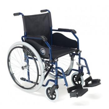 Cadeiras de Rodas Manual Dobrável em Aço Azul - Breezy 90