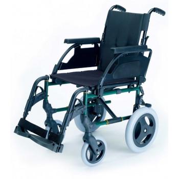 BREEZY PREMIUM-Cadeira de Rodas Manual c/ Encosto Partido e Rodas Dianteiras Maciças 8''x1'' e eixo de extração rápida